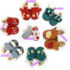 Sayoyo Baby Leather Moccasins Rubber Sole Shoes Infant Toddler Winter Booties