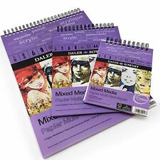 Daler Rowney - Mixed Media Spiral Sketchpad - 250gsm - 30 Pages - A3/A4/A5