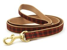 Dog Puppy Design Leash - Up Country - Made In USA - Red Plaid - Choose Size