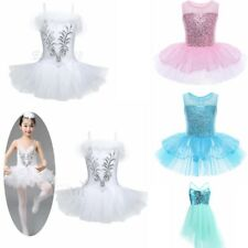 Girls Kids Fairy Party Ballet Costume Tutu Leotard Skirt Dance Dress 3-10Y