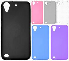 For HTC Desire 555 Frosted TPU CANDY Gel Flexi Skin Case Cover +Screen Protector