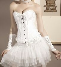 NEW Satin full-breast Corset Corsage Pattern String Wedding Weeding! 5085
