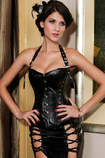 NEW Corset Corsage corset Halter neck Dominatrix Gothic Faux leather ! 5269