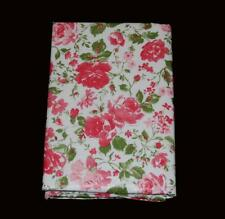 Laura Ashley RAMONA Vinyl Flannel Back Rect or Round Pink Roses Tablecloth NIP