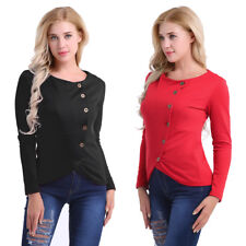 Long Sleeve Button Front Tops Balzer Irregular Slim Fit Lady Cotton Jacket Coat