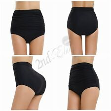 Sexy Women's High Waisted Shorts Plain Bikini Swim Swimwear Short Brief Bottoms