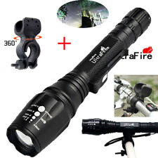 Zoomable Tactical 20000LM 5Modes T6 LED Flashlight Lamp Torch Light+bike clip!