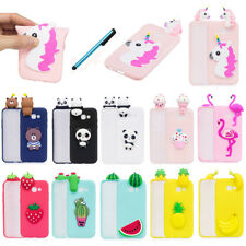 For Samsung Galaxy Phone Soft Silicone Cartoon Cute 3D Shockproof Case Cover