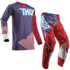 Thor Pulse Geotec Youth Motocross Children Jersey and Trousers 2018 - Red Blue