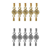 5Pcs Crystal Ball Magnetic Lobster Clasps Connectors for DIY Jewelry Making