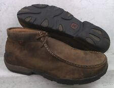 Twisted X Mens Brown Oily Leather Safety Toe Boots Shoes MDMST01 size 13 M
