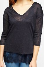 NEXT New Ladies Navy Blue Lace Evening Top & Cami 2 in 1 Smart Casual Size 8 -22