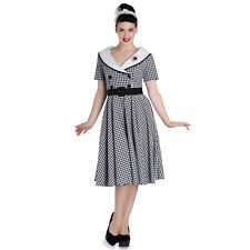 Hell Bunny Black Gingham Ladybird 1950s Vintage Retro Flared Swing Dress