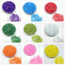 Lot 1000pcs 2*3mm AB Colored Transparent Tube Czech Glass Seed Beads DIY Jewelry