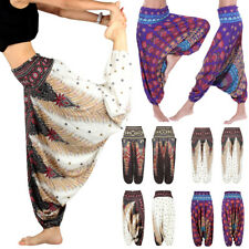Ladies Boho Baggy Harem Pants Hippie Wide Leg Gypsy Yoga Long Palazzo Trousers
