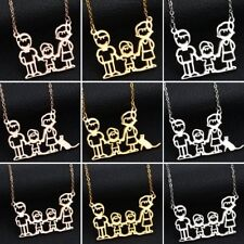 Father/Mother/Son/Pet Family Stainless Steel Pendant Necklace To MOM DAD Gift