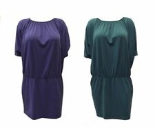 NWT SUSANA MONACO DIONNE Purple/Teal Blouson Tunic Dress Sz S Sz L  150742E