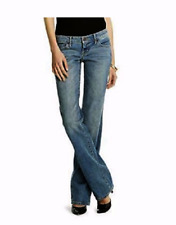 Mossimo Womens Slim Fit Lowest Rise Dirty Wash Bootcut Jeans Denim Light Blue
