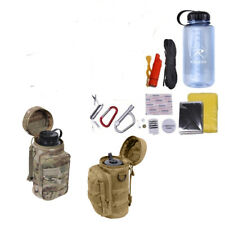 Multicam Coyote Water Bottle Bug Out Prepper Scout MOLLE Emergency Survival Kit