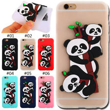 Panda Silicone Soft Back Protective Cover Rubber TPU Case Skin For Apple iPhone