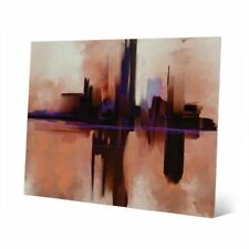 'Alone In The Dark' Metal Abstract Wall Art Print