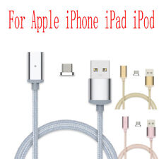 Braided Magnetic Adapter USB Charger Charging Data Cable For Apple iPhone iPad