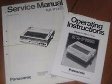 Vintage Panasonic KX-P1180 Dot Matrix Printer User and Service Manuals