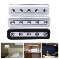 MINI Small 5 LED Touch Night Light Under Cabinet Closet Push Tap Stick On Lamp