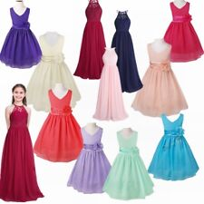 New Kids Princess Holiday Formal Party Dress Flower Girl Costume First Communion