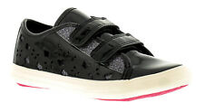 New Younger Girls/Childrens Black Buckle My Shoe Trent Trainers