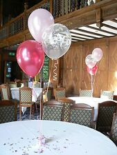 Happy Birthday Party Helium Balloons - 15 Table Decorations, Many Ages & Colours