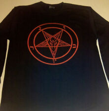 PENTAGRAM T Shirt Long Sleeve Satanic occult EVIL GIFT SMALL - XL FREE SHIPPING