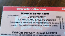 3 KNOTTS BERRY FARM ONE DAY ANYTIME PASS TICKETS ADULT OR CHILD EXPIRES 6/30/18