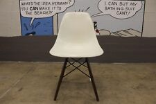 AUTHENTIC Eames Molded Fiberglass Side Chair Parchment DFSW - DWR Herman Miller