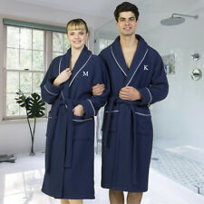 Authentic Hotel and Spa Navy Blue Unisex Turkish Cotton Waffle Weave Terry Bath
