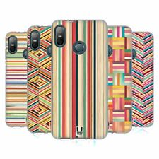 HEAD CASE DESIGNS COLOURED STREAKS SOFT GEL CASE FOR HTC PHONES 1