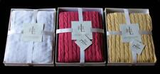 Ralph Lauren Cable Or Diamond Knit Red or Off-White Throw Blanket 50 x 70 NIB