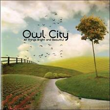 OWL CITY - ALL THINGS BRIGHT AND BEAUTIFUL [DIGIPAK] NEW CD FREE SHIPPING!!