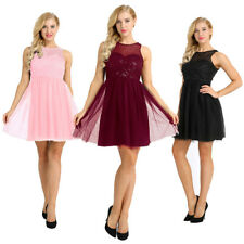Sequins Evening Party Cocktail Bridesmaid Wedding Dress Womens Sexy Lace Dress