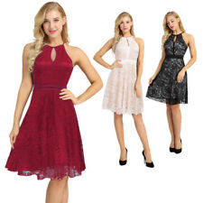 Womens Vintage New Lace Cocktail Evening Party Wedding Short Casual Office Dress