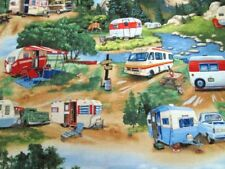 1 Yard Vintage Trailers Packed Campers Elizabeth's Studio #6313