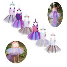 Girl Princess Outfit Tutu Skirt Party Fancy Dress Up Halloween Cosplay Costume