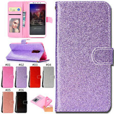 For Xiaomi Phone Glitter Card Shine Wallet Stand PU Leather Bling TPU Case Cover