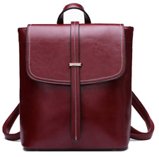 Women's Genuine Leather Backpack Satchel Rucksack Shoulder  School Bag  Fashion