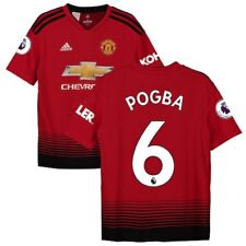 Paul Pogba Manchester United adidas Youth 2018/19 Home Replica Player Jersey -