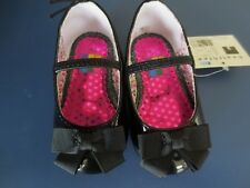 NEW Girl Infant *6-9* or *9-12* months HEALTHTEX Black Patent Dress Shoes w/ Bow