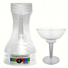 Creative Party 4 Clear Plastic Margarita Glasses 355ml Party Cocktail Glassware
