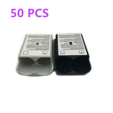 50pcs Battery Pack Cover Shell Case for Xbox 360 Controller Black White