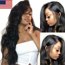 Brazilian Straight Body Wave Lace Front Wigs Virgin Human Hair Full Lace Wigs US