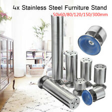 4 Pcs Stainless Furniture Legs Cabinet Bed Table Desk Lounge Sofa Leg Stand Feet